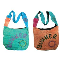 Colourful Natural Summer Over Shoulder Beach Bag