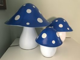 Blue Toadstool Lamp