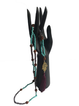 Bead Necklace - Hamsa
